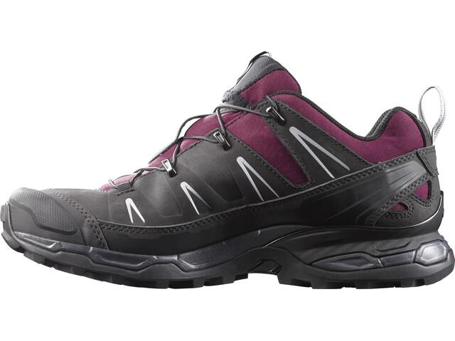 Salomon X Ultra LTR Hiking Shoes Women Bordeaux/Asphalt/Steel Grey